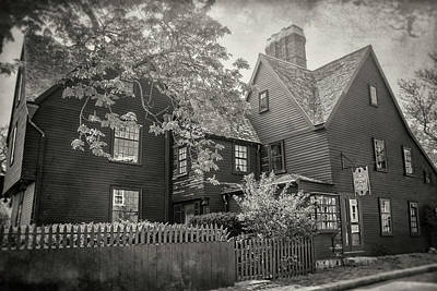 Photograph - House Of The Seven Gables Salem Massachusetts In Black And White  by Carol Japp