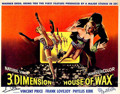 Vincent Price Digital Art - House Of Wax by Movieworld Posters
