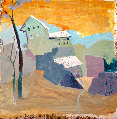 Painting - House On A Hill by Carole Johnson