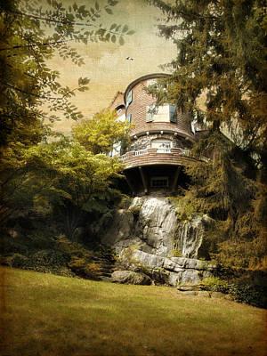 House Digital Art - House On A Hill by Jessica Jenney