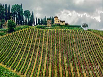 House On A Hill-tuscany Art Print by Jennie Breeze