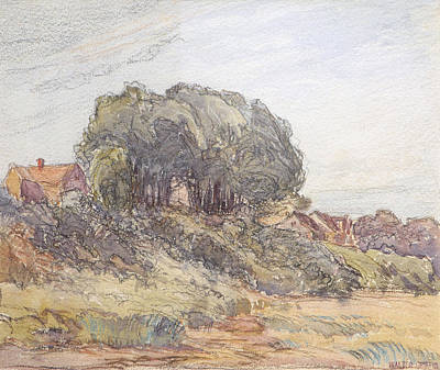 House On A Hill Art Print by Walter Griffin