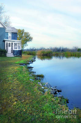 Photograph - House On A Lake by Jill Battaglia