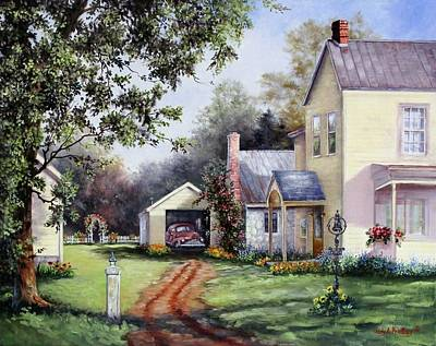 Painting - House On Bird Street by Judy Bradley