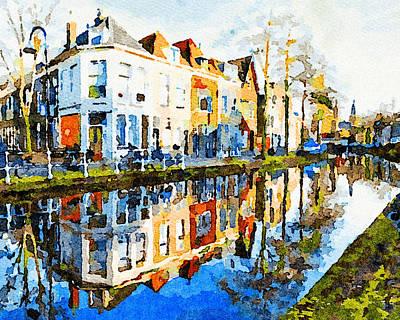 Digital Art - House On Canal by Yury Malkov
