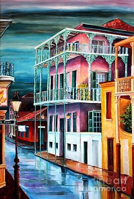 House On Dauphine Street Art Print by Diane Millsap