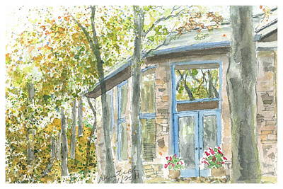 Painting - House On Grandmother Mountain - Postcard by Joel Deutsch