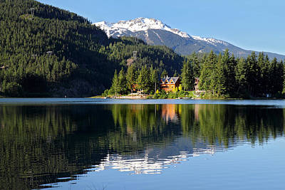 Ski House Wall Art - Photograph - House On Green Lake Whistler B.c Canada by Pierre Leclerc Photography