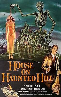 Cult Mixed Media - House On Haunted Hill 1958 by Mountain Dreams
