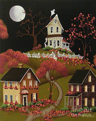 House On Haunted Hill Print by Catherine Holman
