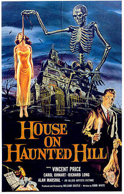 Vincent Price Digital Art - House On Haunted Hill by Movieworld Posters