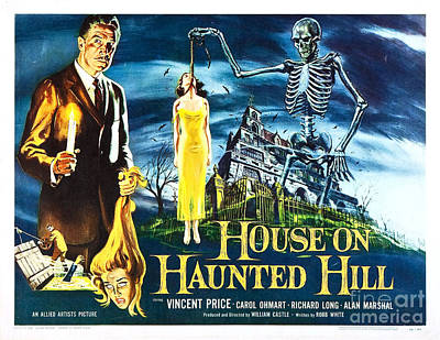 House On Haunted Hill Poster Classic Horror Movie  Art Print