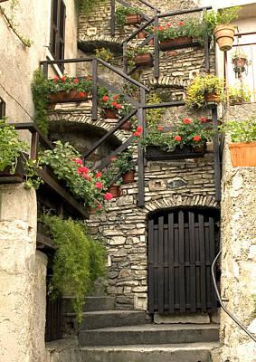 House On Lake Garda Art Print by Mike Lester