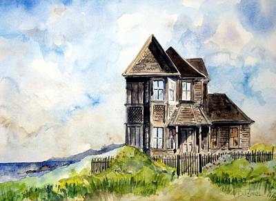 Northern California Wall Art - Painting - House On Little Lake Street Mendocino by Richard Zunkel