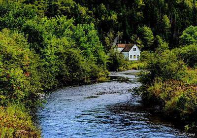 House On Margaree River Art Print by Ken Morris