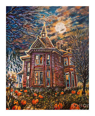House On Pumpkin Hill Art Print by William Vanya