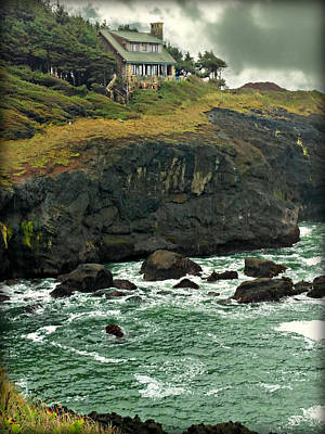 Photograph - House On The Cliff by Katie Wing Vigil