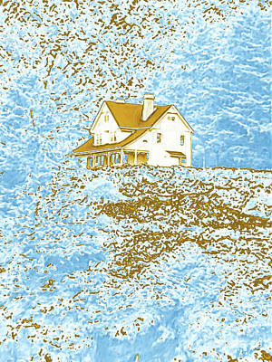 Photograph - House On The Hill by Methune Hively
