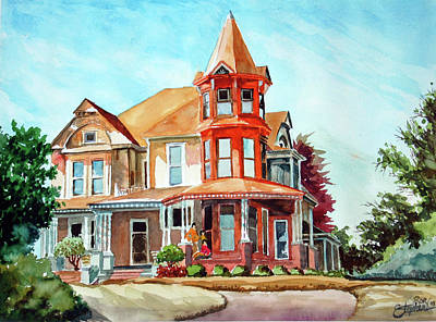 House On The Hill Art Print by Ron Stephens