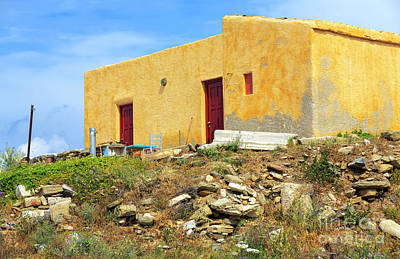 Photograph - House On The Island Of Delos by John Rizzuto