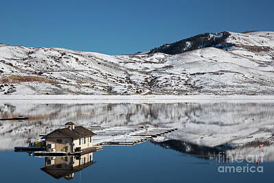 Photograph - House On The Lake by Jim West
