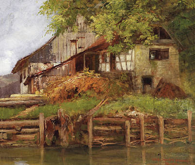 Painting - House On The Lake Shore by Mountain Dreams