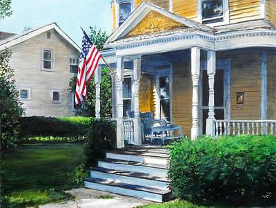 Painting - House On Washington Street by William Brody