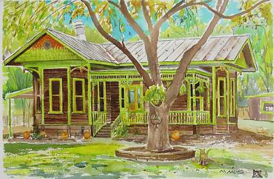 Mike Martin Painting - House On Water Street by Mike Martin