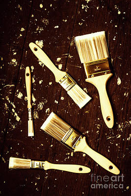 Brush Wall Art - Photograph - House Paint Abstract by Jorgo Photography - Wall Art Gallery