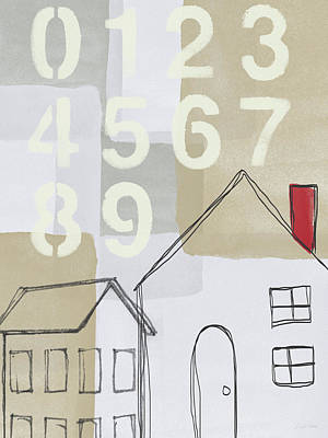 Chimney Painting - House Plans 3- Art By Linda Woods by Linda Woods