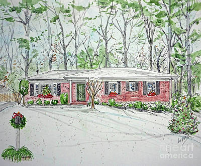 Mixed Media - House Rendering Sample H29 by Lizi Beard-Ward