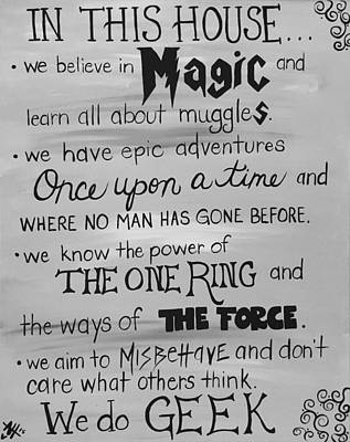Harry Potter Painting - House Rules by April Hammond