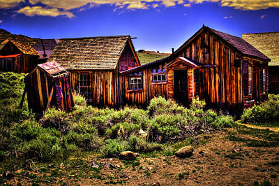 Photograph - House, Shed And Outhouse Bodie Ghost Town by Roger Passman
