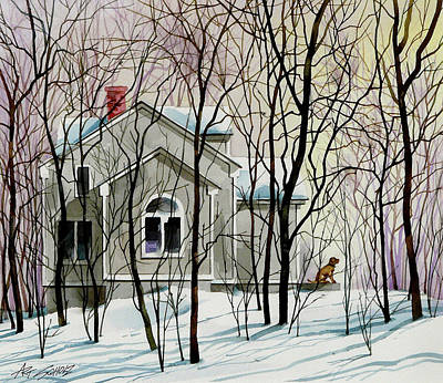Painting - House Sitting by Art Scholz