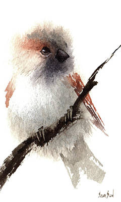 Painting - House Sparrow by Sean Seal