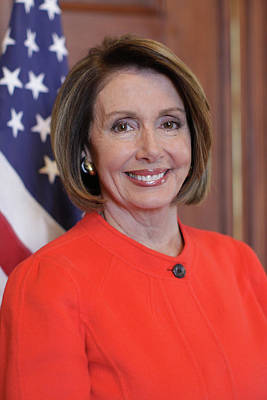 Painting - House Speaker Nancy Pelosi Of California  by Celestial Images