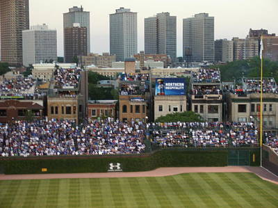 Photograph - House Top Bleachers At Wrigley by Dan Whittemore