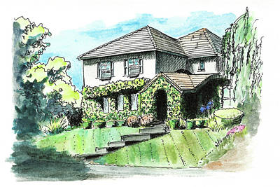 Painting - House With Bindweed by Masha Batkova
