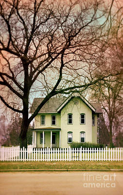 Photograph - House With Picket Fence by Jill Battaglia