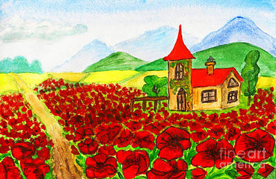 Painting - House With Red Poppies by Irina Afonskaya