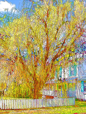 Swansboro Painting - House With White Picket Fence by Lanjee Chee