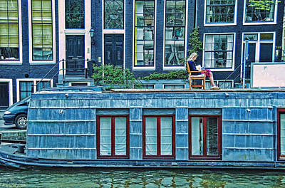 Photograph - Amsterdam Houseboat 1 by Allen Beatty