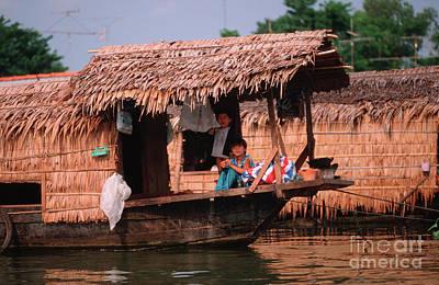Houseboat In Mekongdelta Art Print