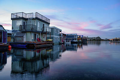 Photograph - Houseboat Reflections by Keith Boone