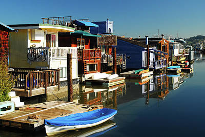 Sausalito Photograph - Houseboats by James Kirkikis