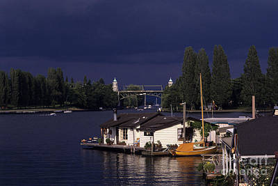 Photograph - Houseboats Montlake Cut by Jim Corwin