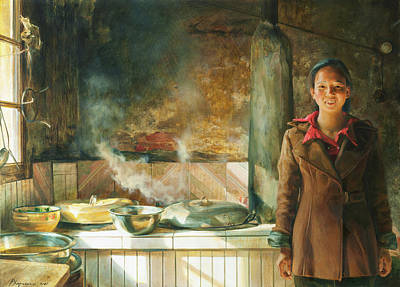 Housewife Painting - Housekipper by Victoria Kharchenko