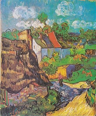 Houses At Auvers Art Print by Vincent Van Gogh