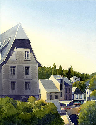 Houses At Murol Art Print