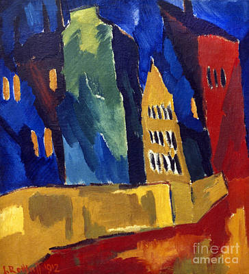 Photograph - Houses At Night by Granger